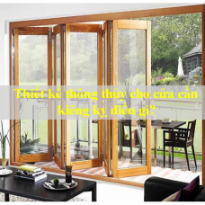 Khi thiết kế thông thủy cho cửa nhôm kính cần kiêng kị điều gì?